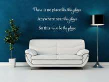 "Wall Quote ""No place like this..."" Homely Family Sticker Decal Decor Transfer"